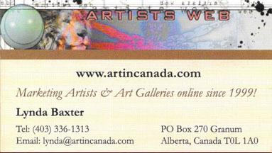 Art in Canada Business Card Design