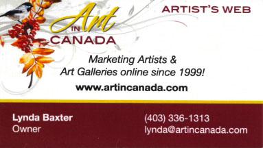 Art in Canada 2010 Business Card