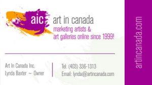Art In Canada 2019 Business Card