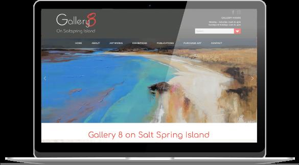 Multi-artist gallery website